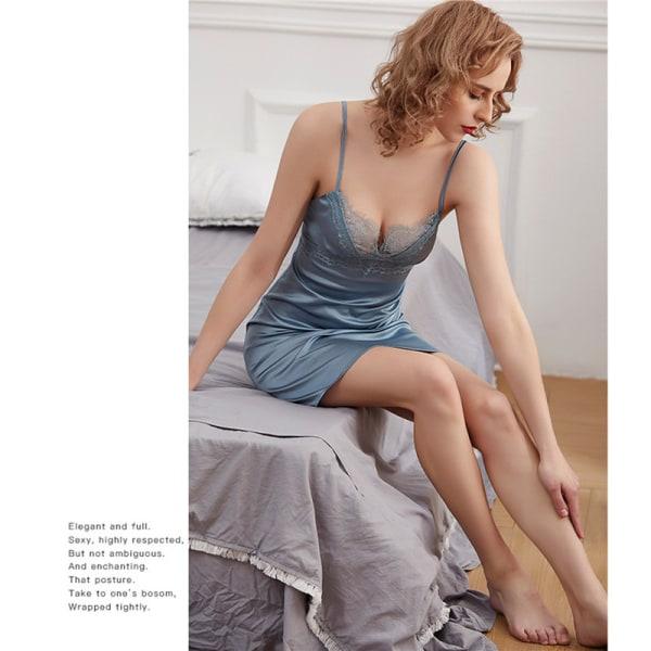 Kvinnors sexiga spetspyjamas silkeslinne i nattlinne