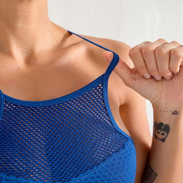 Trådfria löstagbara muggar för kvinnor Sport-bh-toppar Yoga Running Spor