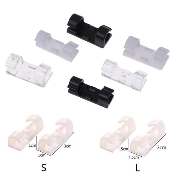 16/20Pcs Wire Cable Clips Organizer Cord Management Holder USB C Transparent L  16Pcs
