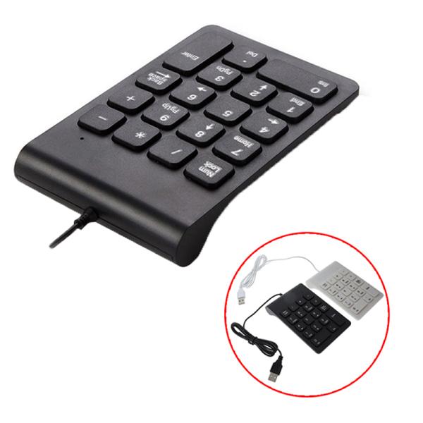 18 tangenter usb numeriskt tangentbord smal minitangentbord digital tangentbord