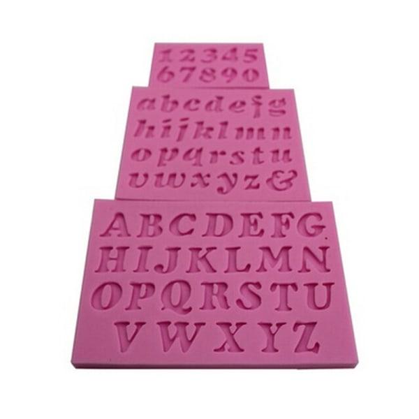 3 st Ny Mini Letter & Number Silikon Handgjord Fondant Cake Dec