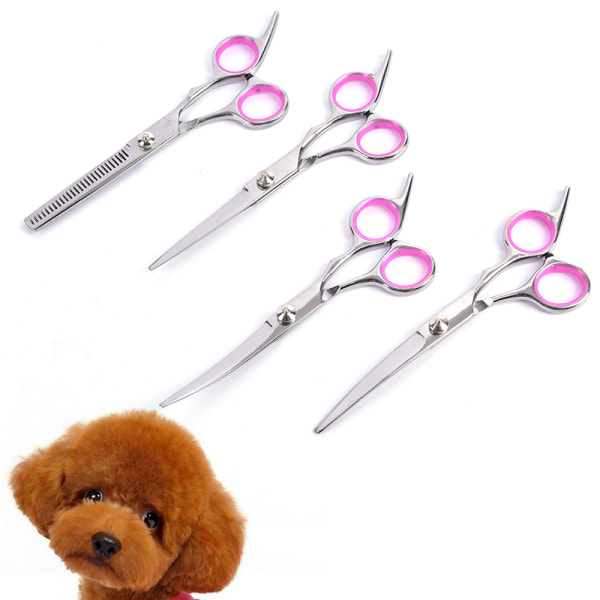 """6""""Professional Pet Dog Grooming Scissors Set Straight&Curved&Thi 2"""