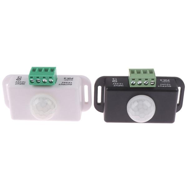 Body Infrared PIR Motion Sensor Switch for LED Light Strip Auto White
