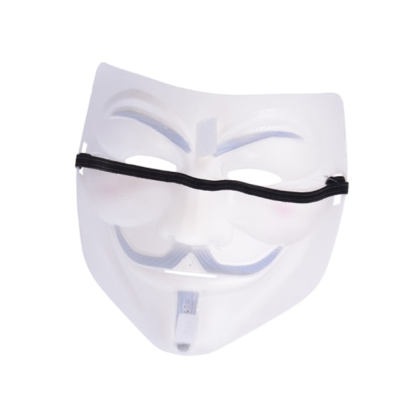 Cosplay Mask V For Vendetta Mask Anonymous Movie Guy Fawkes Hall White