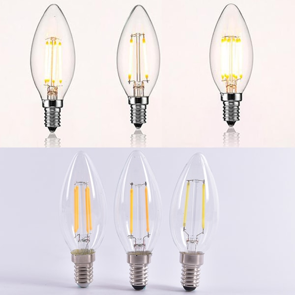 LED Bulb Spotlight 2W/4W/6W E14 COB Candle/Flame Tip C35 Filame 6W  warm white
