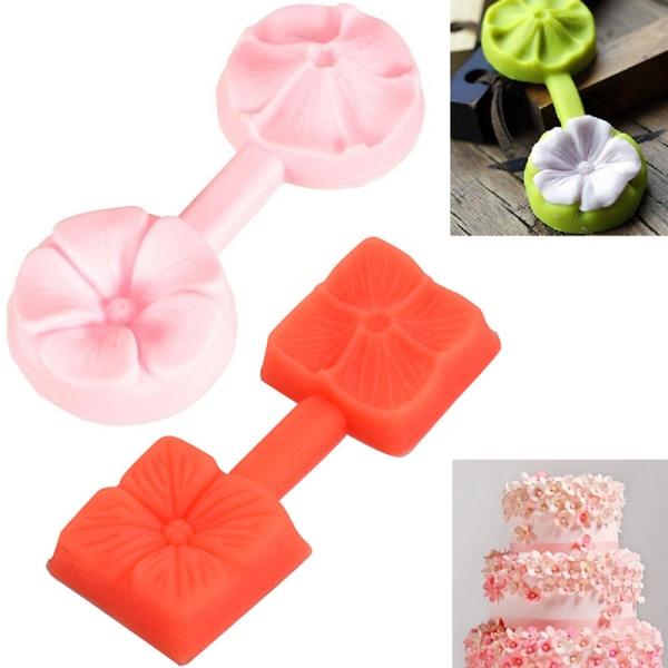 Ny silikon 3D Rose Flower Fondant Cake Chocolate Sugarcraft M