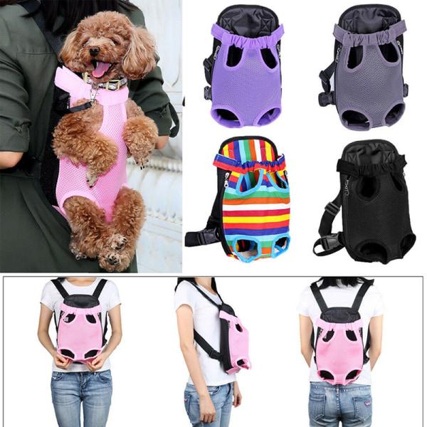 Pet Carrier Backpack Adjustable Pet Front Cat Dog Carrier Travel Black XL