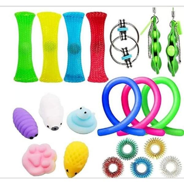20 Pack Fidget Toys Pop it Stress Ball Leksak Relax Antistres