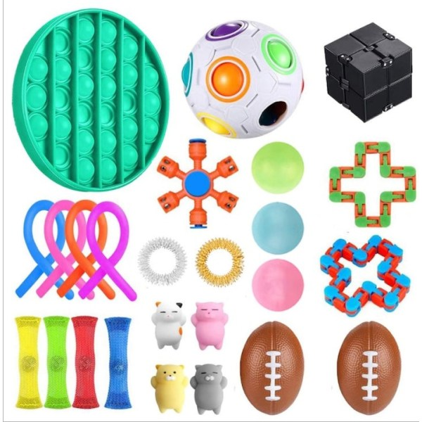 25 Pack Fidget Toys Pop it Stress Ball Leksak Relax Antistres