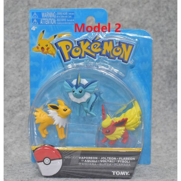 3 Pack Pokémon Pokemon Figurer 3st Model Modell 3