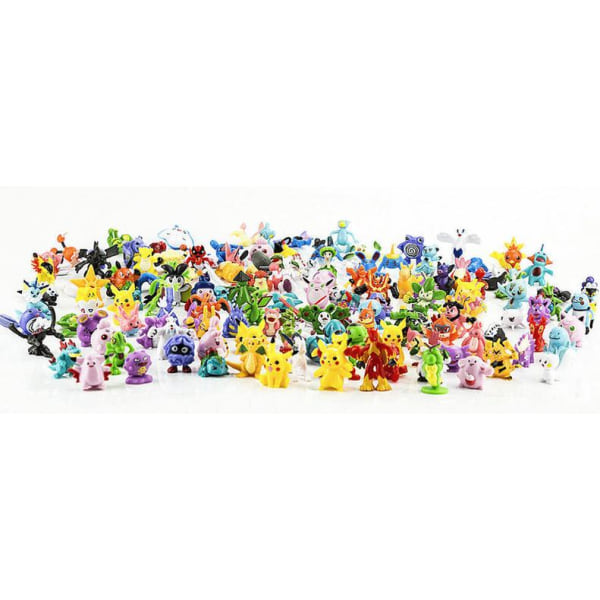 48st Söta  Färgglada Pokémon Figurer Pokemon Innehåller Pikachu