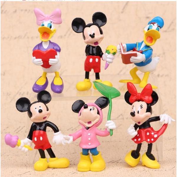 6-Pack Disney mini Dockor Mickey Mouse Donald Duck julklappar