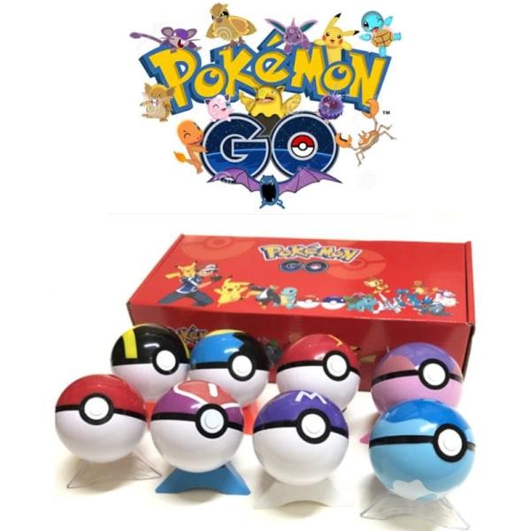 8 set Pokéboll+8 set Pokemon Figurer+8 set Bas Bäst julklappar