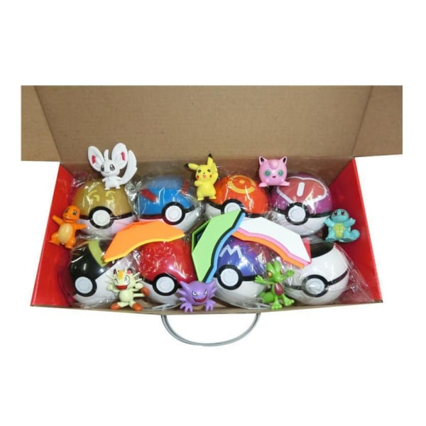 8st Pokemon Figurer+8st Bas+8st Pokéboll  Bäst Födelsedags