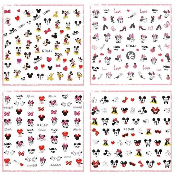 Disney Minnie Mouse Nagel Stickers 170st Nagelklistermärken