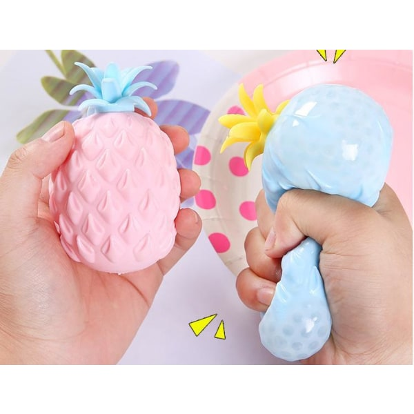 Fidget Toys sensorisk leksaker tryck boll  Ananas Frukt CE Godkä Gul