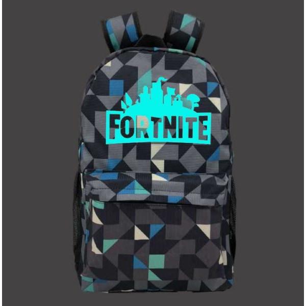 Fortnite ryggsäck med geometriskt mönster Night Luminous Svart