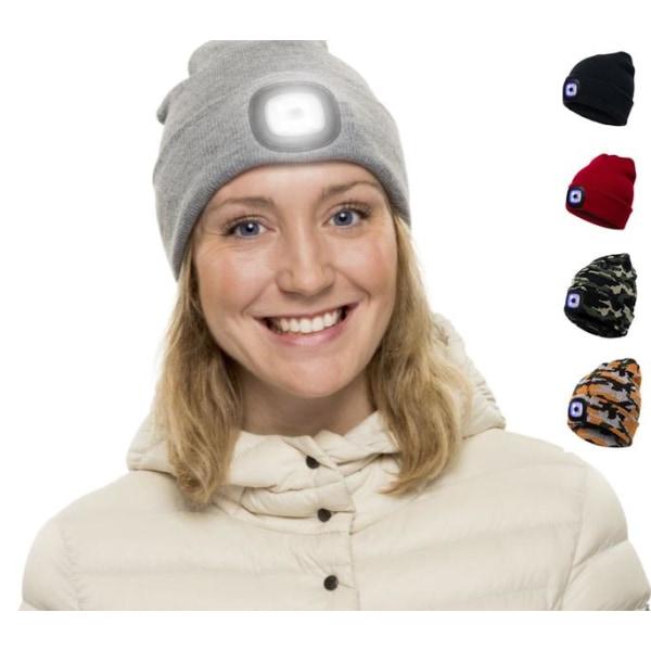 Ledsavers Mössa med LED-lampa 5 Fäger - julklappar Grey Grå