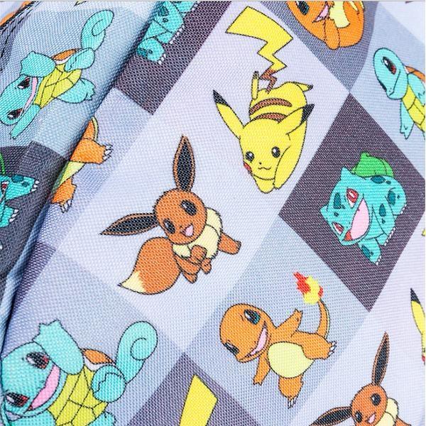 Pokemon Backpack Ryggsäck Skolväska Väska- Pokemon Go Pikachu grå
