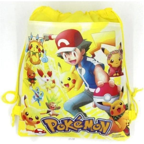 Pokemon GO Piakchu  Gymväskan Gymnastikpåse  Model 2