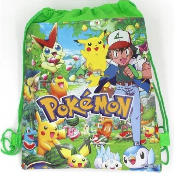 Pokemon GO Piakchu  Gymväskan Gymnastikpåse  Model 3
