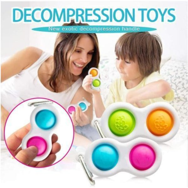 Pop It Finger CE Godkänd Sensory Simpl Dimpl - Key Ring