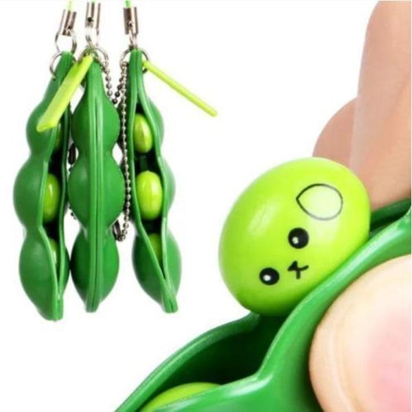 Sensory Grön Leksak Green Beans Bönor Fidget Böna Toys Leksak
