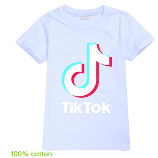 Tik Tok T- Shirt Kortärmad Vit Storlek 160