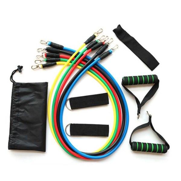 Träningsband (5st Justerbara Gummiband Band)  Stretchband 5-Pack