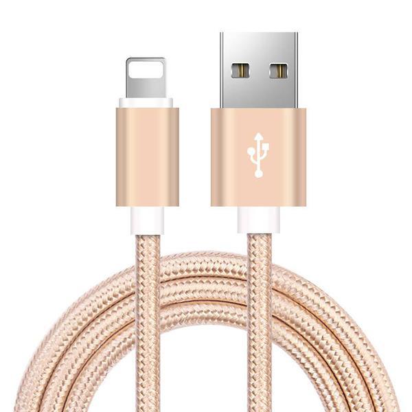 3 st  1,2 och 3 m för iPhone-laddning guld