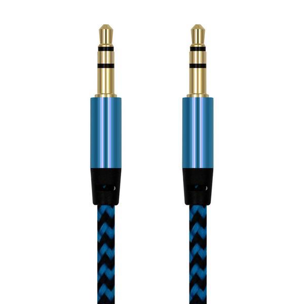 Aux till aux kabel blå Blue