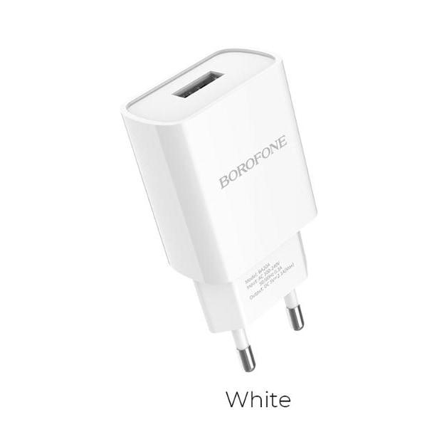 Borofone BA20A vägladdare med 1 m iphone kabel