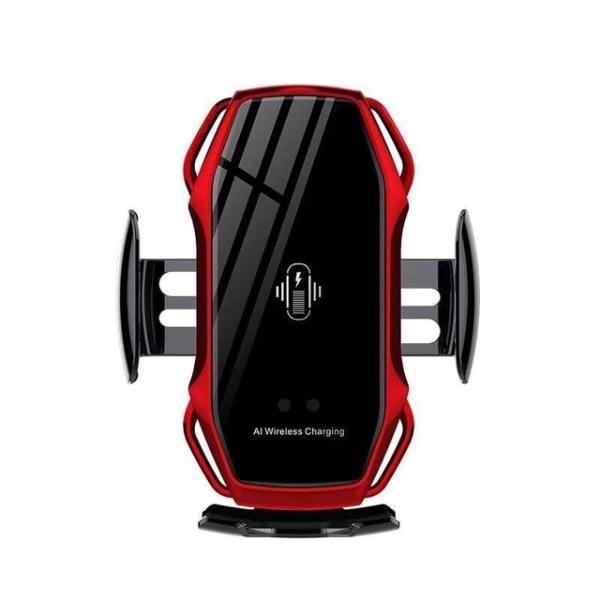 FLOVEME Qi Snabb trådlös mobilladdare med bilmonterad  röd röd
