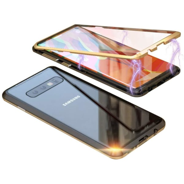 Magneto  fodral för Samsung S10 guld Gold