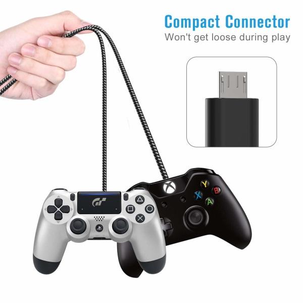 (3st) 3-Pack Micro-USB-kabel (3M) Extra Lång