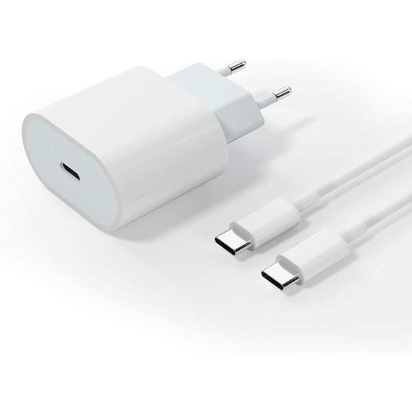 20W Laddare för Samsung S9/ S9+PLUS med 2M USB C-C