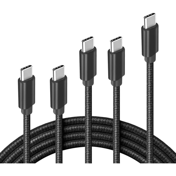 (5st) för Samsung USB-C till USB-C Kabel Extra Lång - 2 Meter