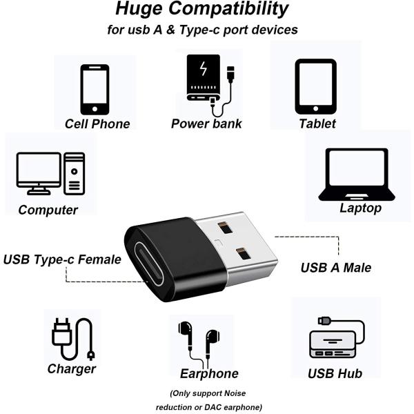 USB-adapter - USB typ A (hane) till USB-C (hona) - USB 3.1