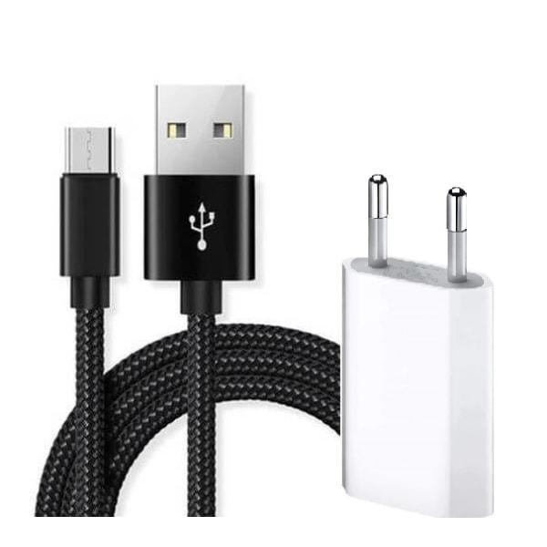 för Samsung 2m Micro-USB kabel + Väggladdare