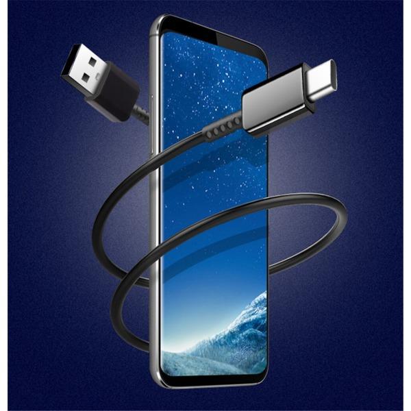 1 Meter- Extra Stark Snabbladdning 1M USB-C kabel laddare Type-C