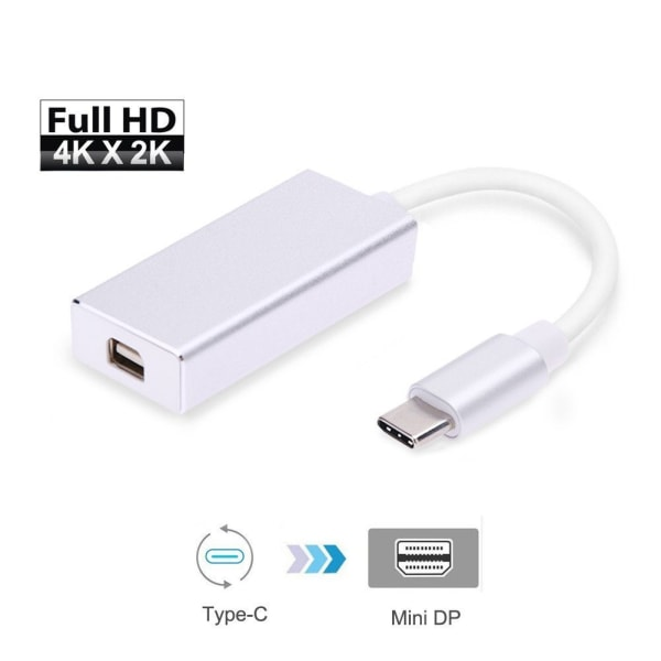 USB C till adapter 4K (MiniDP) Thunderbolt 3 / Macbook / PC