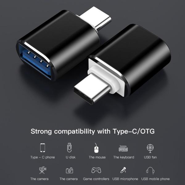 USB till USB-C 3.1 OTG adapter Svart (Thunderbolt)