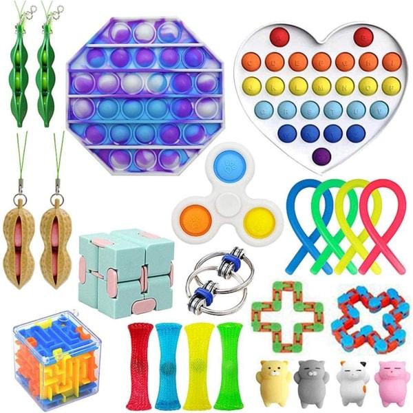 24 Pack Fidget Toy Set Pop IT Sensory Toy for Kids Vuxna