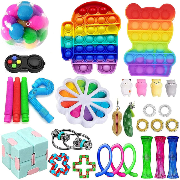 30st Fidget Toys Pack Sensory Pop it Stress Ball Party Present