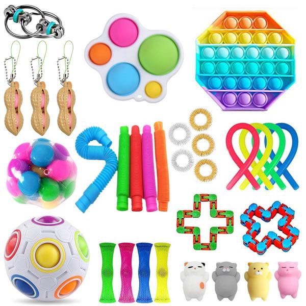 32st Fidget Toys Pack Sensory Pop it Stress Ball Toys Present