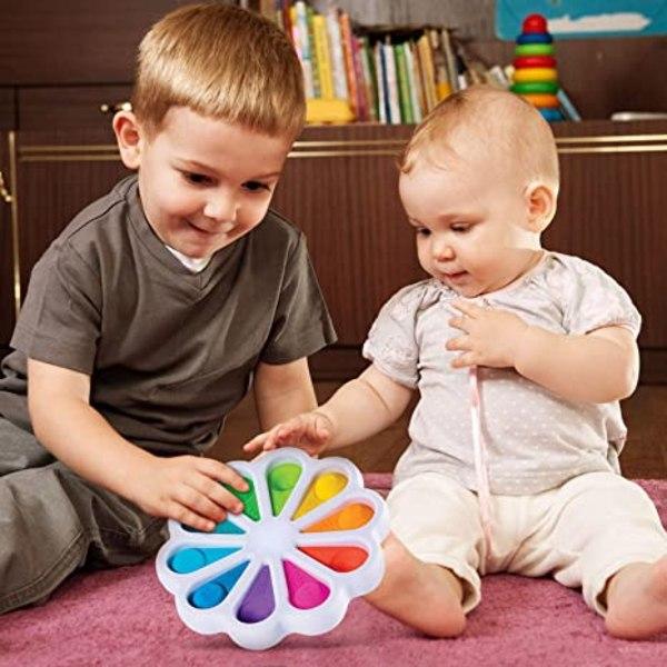 Flower Fidget Toys Sensory Simple Fidget Toys för barn vuxna