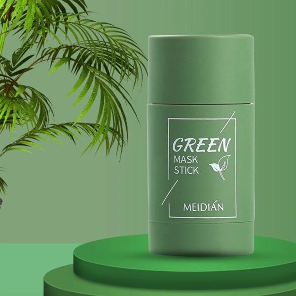 Green Tea Stick Natural Mask Aubergine Rengör porer Mask Anti-Ac Green Tea
