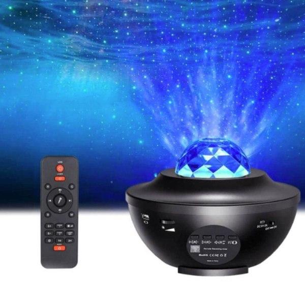 LED Galaxy Light - Stjärnlampa / Nattlampa Svart