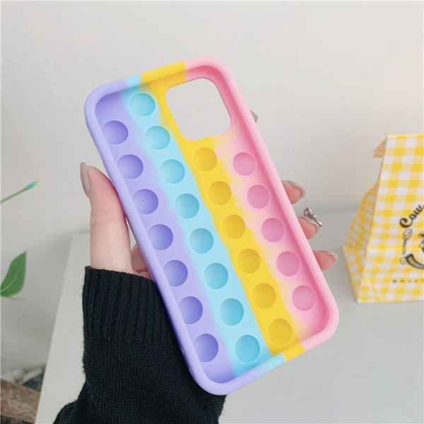 Pop it fidget cover för iPhone 11 - MultiColor Multicolor