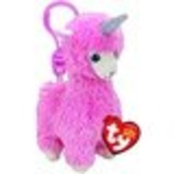TY Beanie Boos Lana Pink Llama Clip